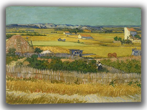 Van Gogh, Vincent: The Harvest. Fine Art Canvas. Sizes: A4/A3/A2/A1 (0018)
